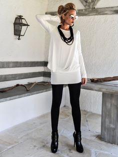 Elfenbein asymmetrischen Bluse - Kleid - Tunika / Elfenbein Bluse Kleid / asymmetrische Oversize Kleid / #35106   Dieses elegante und komfortable Blouse - Kleid ist eine Schöpfung umdrehen. Es sieht atemberaubend mit ein paar Fersen, wie auch mit Wohnungen. Sie können es als eine Bluse mit Hose, Jeans oder Strumpfhosen tragen, oder es kann sein, dass Ihre sexy Mini Kleid.  >>> Farbkarte hier sehen: https://www.etsy.com/listing/235259897/viscose...