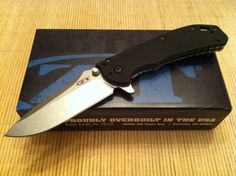 Zero Tolerance Hinderer Assisted Open Folding Knife Elmax Steel ZT 0566 Folder #ZeroToleranceKAI