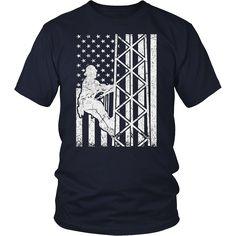 American flag Tower Climber shirt
