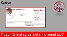 #Kanban cards are one effective way to trigger the replenishment of needed items.