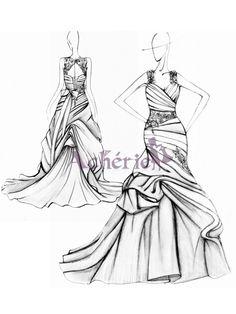sirène robe de mariée - acherie