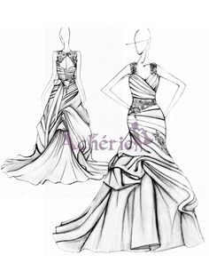 1000 images about dessins de robe de mariage on pinterest - Coloriage robe de mariee a imprimer ...