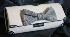 Love this purse with the upcycled bow tie