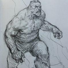 - by Karl Kopinski Comic Books Art, Comic Art, Hulk Sketch, Sketchbook Tour, Line Sketch, Water Drawing, Drawing Sketches, Drawings, Nerd Art
