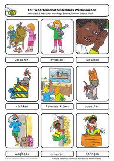 ToP Feest Sinterklaas werkwoorden Dutch Language, Diy And Crafts, School, Teaching, Comics, Logos, December, Google, Preschool