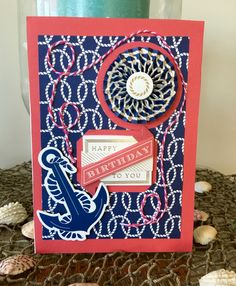 Anna Griffin Seafarer collection card by Vickie Blakeslee.