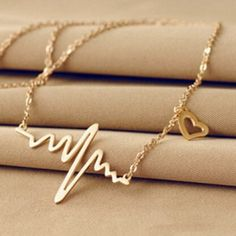Simple Wave Heart Necklace //Price: $2.00 & FREE Shipping //     #hashtag1