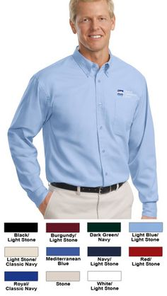 #port #authority #mens #shirts #companion #series #apparel $30.12 Our comfortable wash-and-wear shirts are indispensable for the workday. Wrinkle resistance makes these shirts a cut above the competition, so you and your staff can be too.  Features: 4.5-ounce; 55% cotton and 45% polyester; button-down collar; dyed-to-match buttons; patch pocket; box back pleat; adjustable cuffs; some colors have a different color on the inside - these colors are noted on the shirt color dropdown;