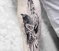 Crow tattoo by Koit Tattoo