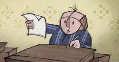 """It's called 'Falling Letters.' - """"Falling letters (bokstavsbarn)"""" er en rørende svensk animationsfilm om en lille dreng med ADHD og nogle af de mange udfordringer han møder. Fortællingen er ordløs og god som inspiration til dialog."""