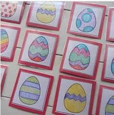 Little Gene Green Bean: Egg-xcellent Easter Crafts (busy bag-type activities: memory, puzzles, lacing) Easter Activities For Kids, Easter Games, Crafts For Kids, Kid Activities, Easter Bunny, Easter Eggs, Happy Easter, Egg Game, Easter Crafts