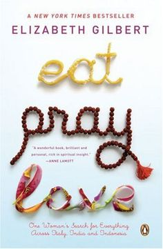 Eat, Pray, Love by Elizabeth Gilbert.  A quest from The US, to Italy, to India and finally to Bali. A tongue in cheek exploration of one woman's broken heart: from disillusionment, pleasure, devotion, love.
