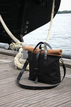 Roll Top Carry All Bag by Malcolm Halley