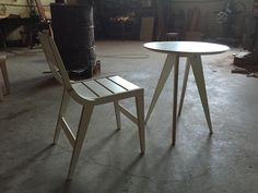 BHAN CHAIR & TABLE  / CNC ROUTER  /  3D DESIGN / PLYWOOD FURNITURE / 유창석www.joinxstudio.com