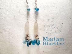 Rose quartz with kyanite. Aqua blue Kyanite by MADAMBLUEONE, €15.70