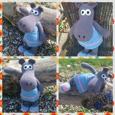 Little miss Fiona, my Crochet hippopotamus <3