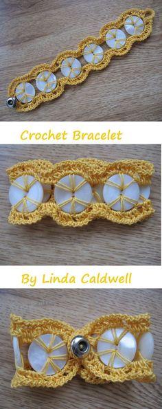 20 ideas for crochet jewelry patterns bracelet buttons Crochet Jewelry Patterns, Crochet Headband Pattern, Crochet Accessories, Bracelet Patterns, Crochet Buttons, Crochet Stitches, Crochet Bracelet, Crochet Earrings, Gilet Crochet