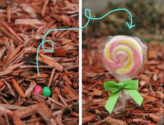 Magical Easter Lollipops......plant some jelly beans on Easter Eve and they'll magically sprout into lollipops the next day. My kids LOVE this tradition! :)  www.makeit-loveit.com..2014.