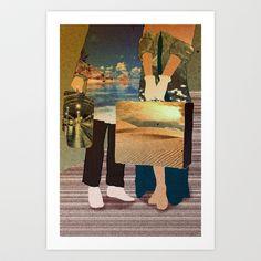 my love where we go? Art Print by frtortora