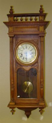 ANTIQUE GERMAN WESTMINSTER CHIME REGULATOR WALL CLOCK -- Antique Price Guide Details Page