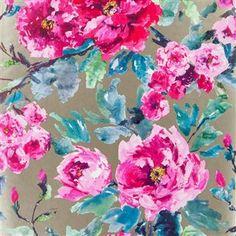 shanghai garden - fuchsia wallpaper