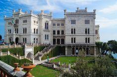 PINTEREST.COM./CASTLES OF ITALY | castle of miramare trieste italy the castle of miramare trieste italy ...