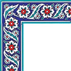 10x20_iznik_desenli_cini_dekor_kutahya_cami_cinisi_altıgen_ks_8_cini_bordur Turkish Design, Turkish Art, Turkish Tiles, Border Pattern, Border Design, Pattern Art, Pattern Design, Decoration Restaurant, Islamic Art Pattern