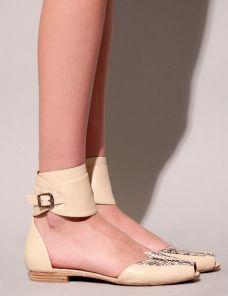 Python ankle strap flats