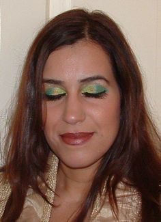 green gold look