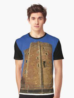 'Doune Castle, Scotland' T-Shirt by David Rankin Game Of Thrones Castles, Game Of Thrones Gifts, Timber Roof, Castle Scotland, Monty Python, Tshirt Colors, 19th Century, Heather Grey, Classic T Shirts