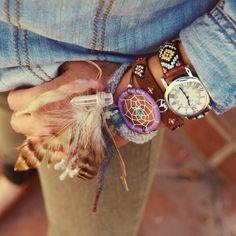 Boho Accessories Bracelet Dreamcatcher Watch Feather