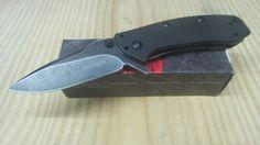 Kershaw Cryo Framelock Blackwash Assisted Opening Knife G-10 Folding Hinderer #Kershaw