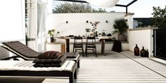 My terrace for last summer! Photo and styling by me. Indoor Outdoor Living, Outdoor Spaces, Rustic Outdoor, Outdoor Decor, Terrace Decor, Outside Living, Balcony Design, Backyard Patio, Interior Styling