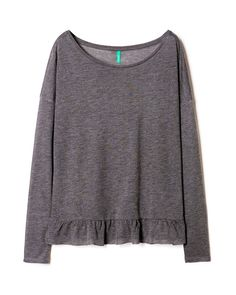 T-shirt with frill