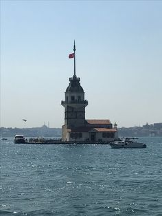 Maiden's  Tower in İstanbul. It has marvellous dishes and breathtaking view.