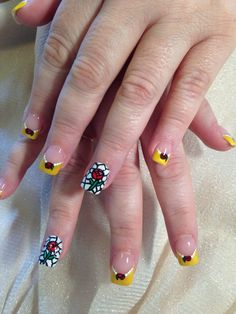 Belle beauty and the beast nails hand painted by Stacey Cornelson