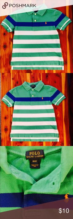 Ralph Lauren Size 4T Polo Shirt EXCELLENT CONDITION!! Ralph Lauren Polo brand Toddler Boy Size 4T Polo shirt...No rips, stains, holes etc. NOTE: All of my items come from a clean, smoke-free, pet-free home. Ralph Lauren Shirts & Tops Polos