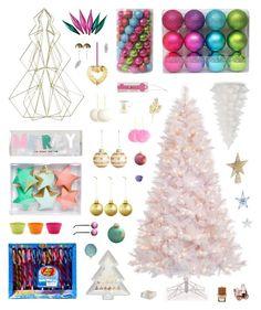 """Christmas Inspiration #1"" by belenloperfido ❤ liked on Polyvore featuring interior, interiors, interior design, home, home decor, interior decorating, Holiday Lane, CB2, Meri Meri and Topshop"