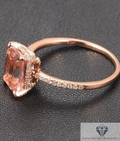 micro pave prong morganite!~
