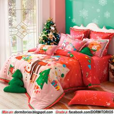 Christmas Bedding Sets, Warm Your Family Properly Bedroom Green, Cozy Bedroom, Bedroom Themes, Bedroom Decor, Bedroom Ideas, Bedrooms, Christmas Bedding, Cotton Bedding Sets, Headboards For Beds