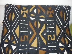 African tribal Bogolan mud cloth from Mali