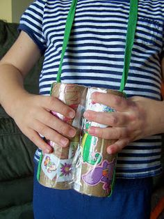 Earth Day Crafts for Kids featuring recycled and upcycled items found around the home.