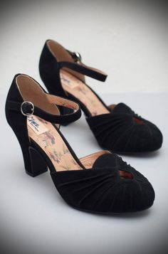 52adc84f58d4 The Miss L Fire Black Amber shoes are beautiful vintage inspired heels.  Made in stunning