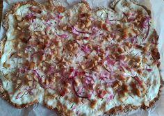 Zabpehelylisztes kenyérlángos recept foto Vegan Recipes, Cooking Recipes, Hawaiian Pizza, Bon Appetit, Clean Eating, Food Porn, Paleo, Food And Drink, Low Carb