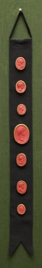 GROUP OF FRAMED SEALS FROM THE MARQUIS OF CHOLMONDELEY 1749-