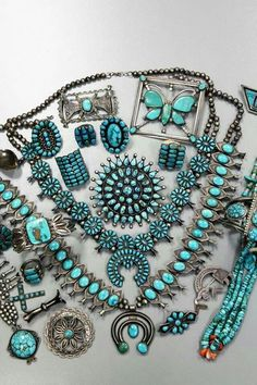 Navajo, Zuni & Pueblo Turquoise Jewelry Collection, unknown source.