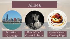 Alinea is one of the top restaurants in the U.S. and the world.