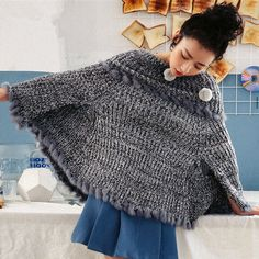 4d0fb2795 48 Best Fashion fringe poncho sweater for women images in 2016 ...