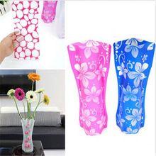 Yüksek Kaliteli Plastik Kırılmaz Katlanabilir Kullanımlık Çiçek Ev Dekorasyonu Vazo Hot1X #184(China (Mainland))