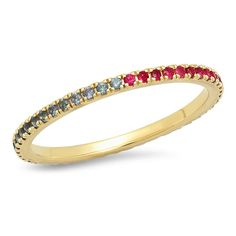 Ruby and Sapphire Eternity Band
